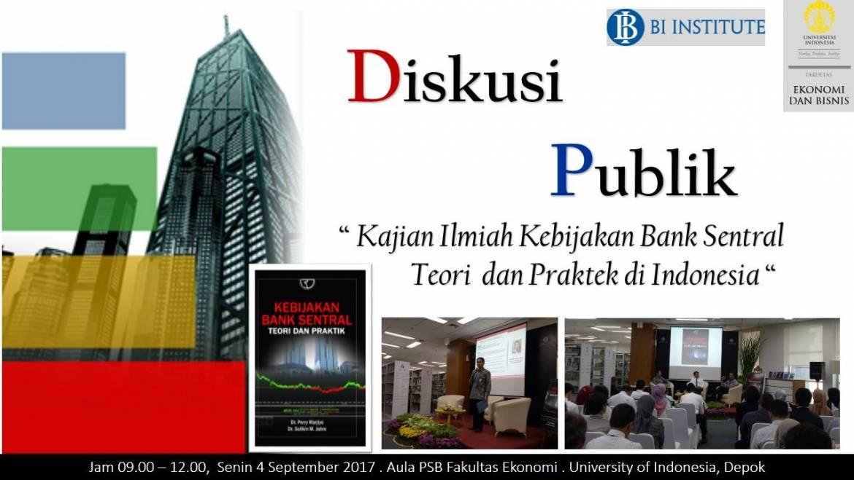 """Launching Buku """"Kebijakan Bank Sentral: Teori dan Praktik"""""""