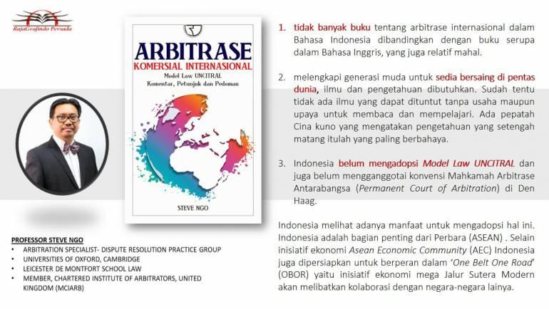 """Hadiri Launching Buku """"Arbitrase Komersial International"""" Karya Steve Ngo"""